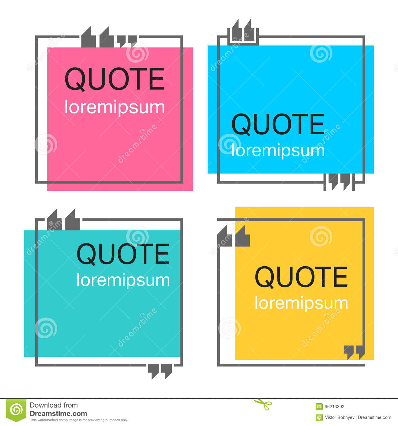 quote square template stock vector illustration of note 96213392