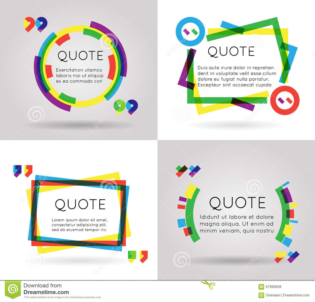 quote template colorful information text blog business mobile quote template colorful information text blog business mobile isolated on white background vector illustration