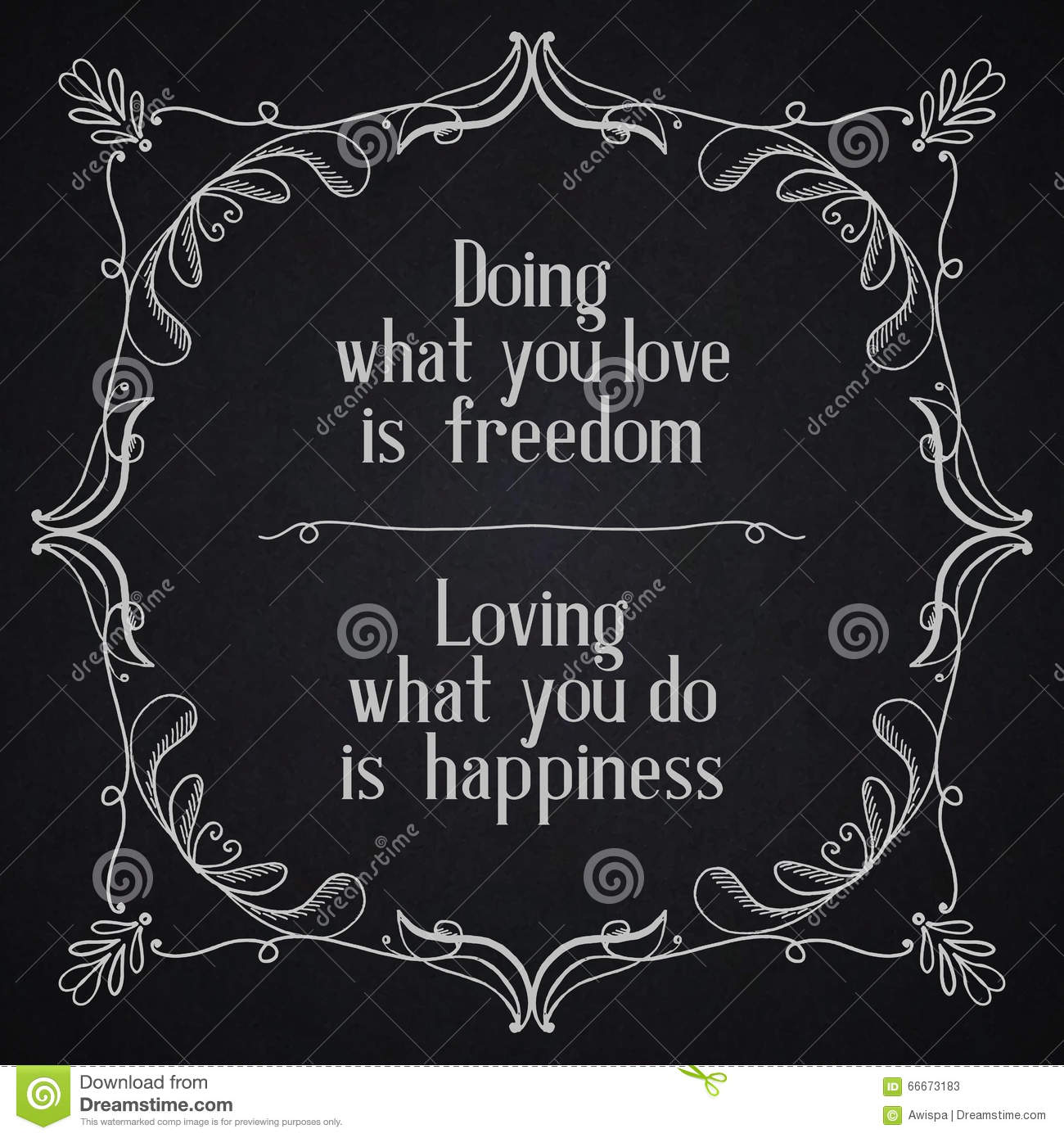 Quotes About Loving What You Do Quote Typographical Backgrounddoing What You Love Is Freedom