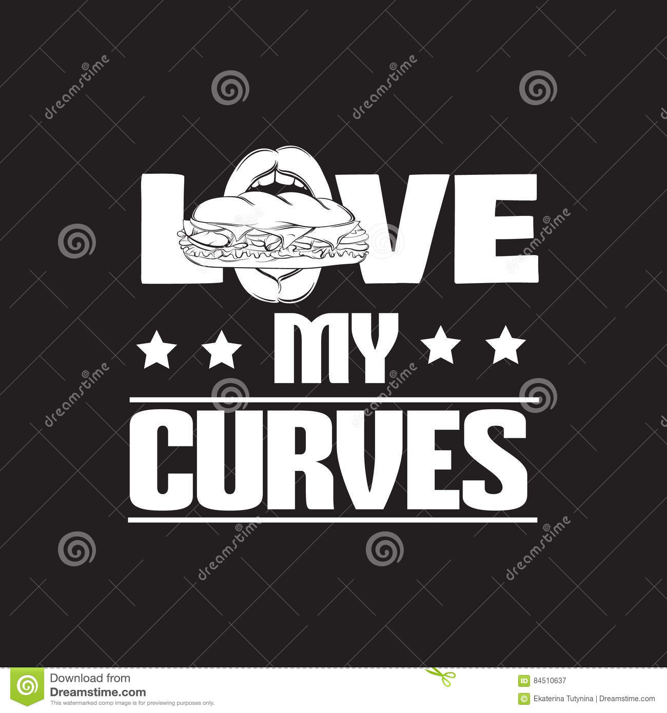Quote Typographical Background About Fat Stock Vector Illustration