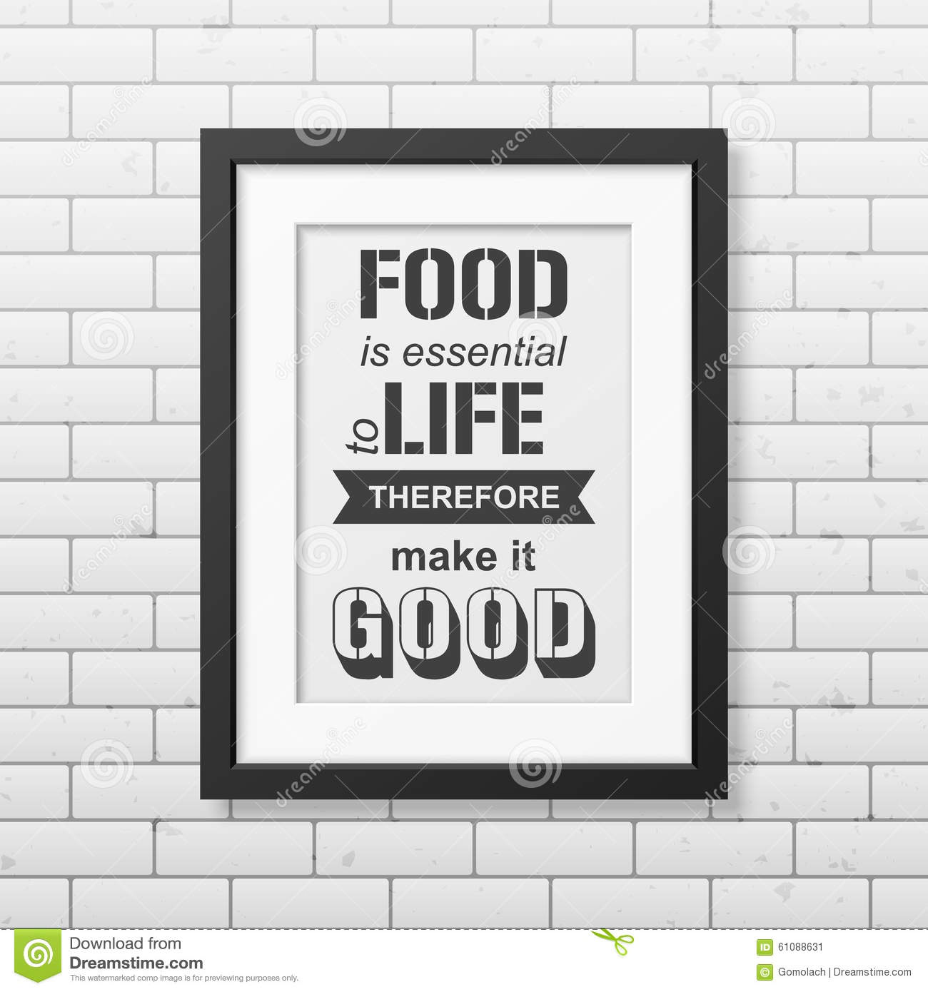 Food Is Essential To Life Therefore Make It Good