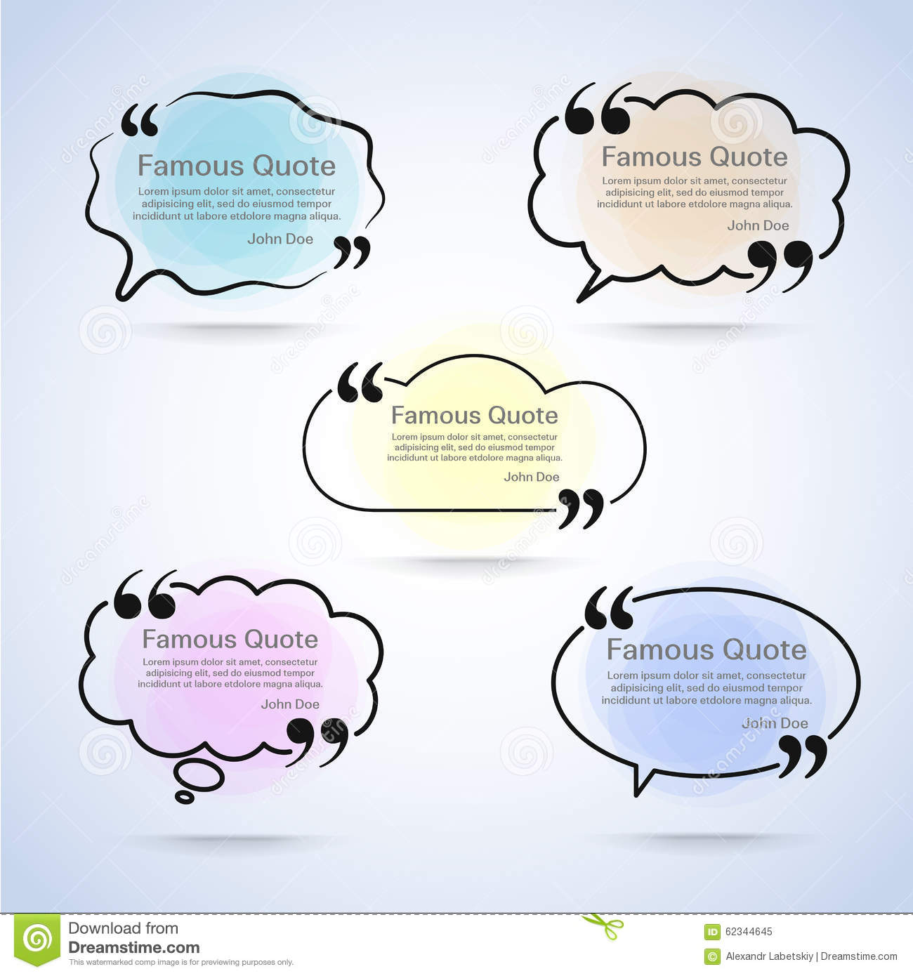 Rectangle quote box with your text, quotation marks. Eps 10 vector ...