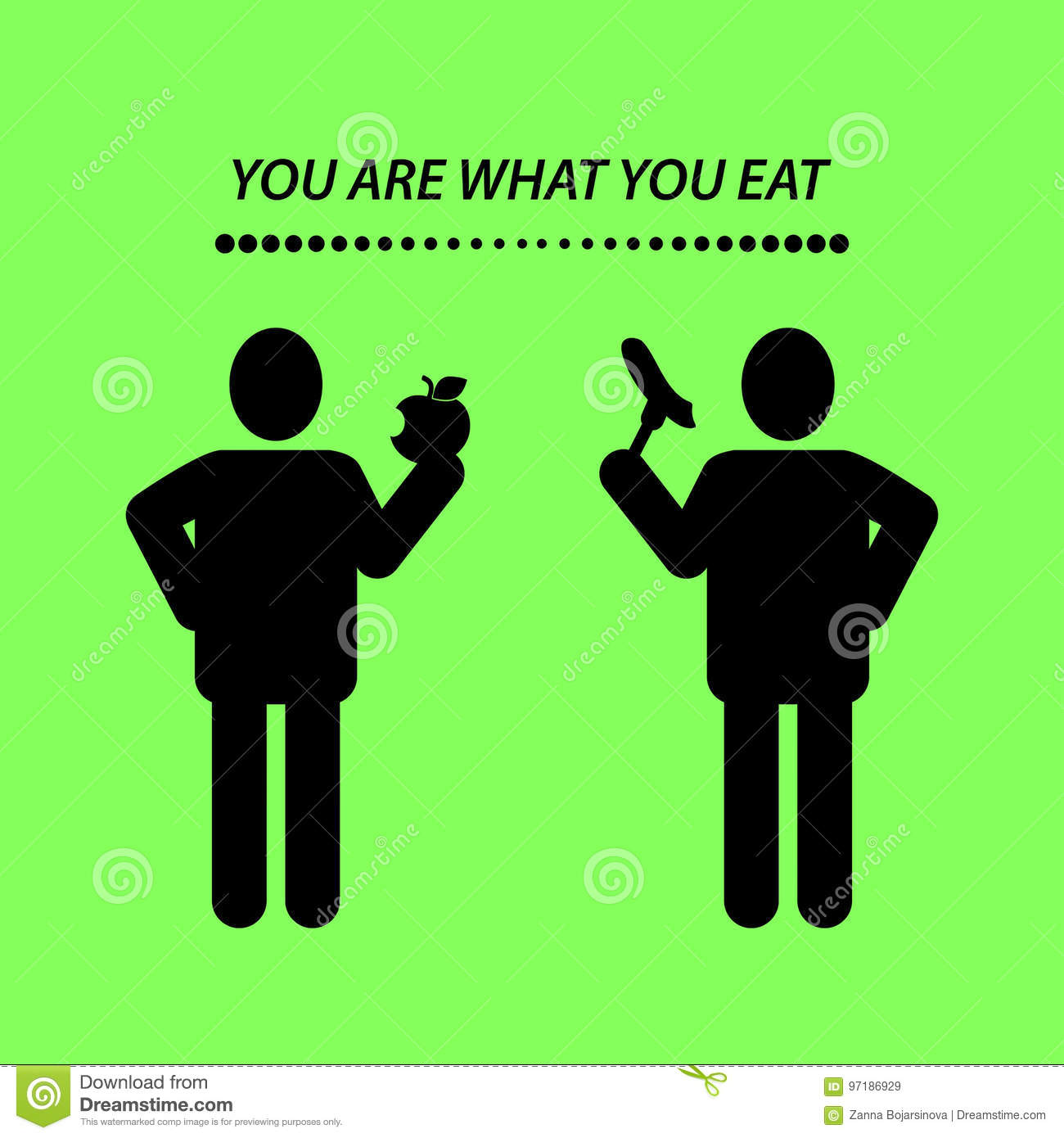 Quote You Are What You Eat Stock Vector Illustration Of Phrase