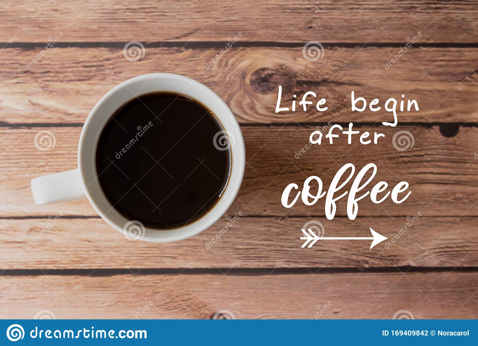 Quotes With Coffee Life Begin After Coffee Stock Photo Image Of Motivation Coffee 169409842