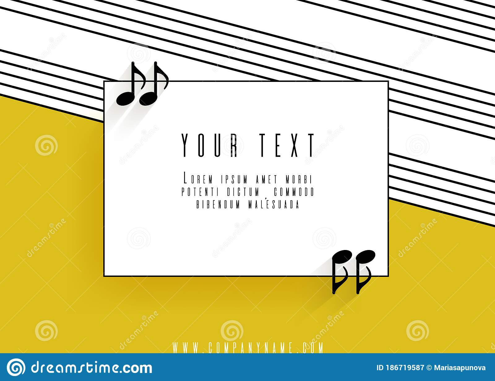 Quotes In The Form Of Musical Notes In A Frame Stock Vector Illustration Of Citation Contact 186719587
