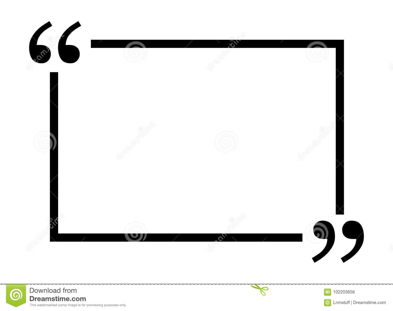 Quotes frame stock vector. Illustration of form, definition - 102203656