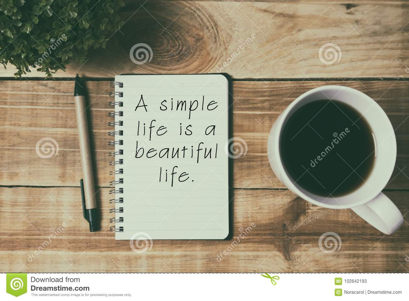 Quotes A Simple Life Is A Beautiful Life Stock Image Image Of