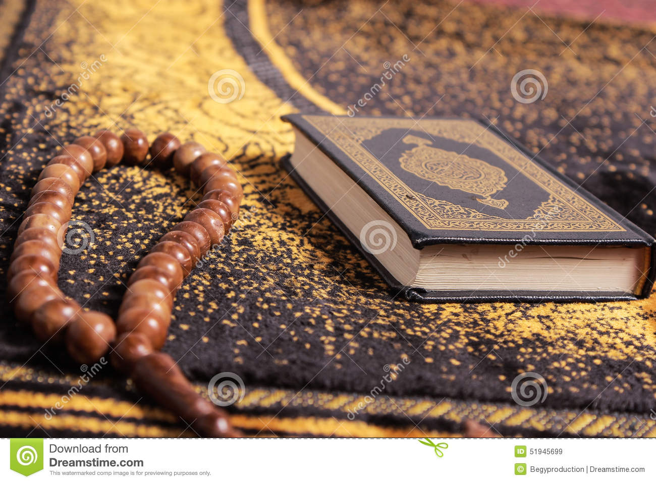 quran and tasbih stock photo image 51945699