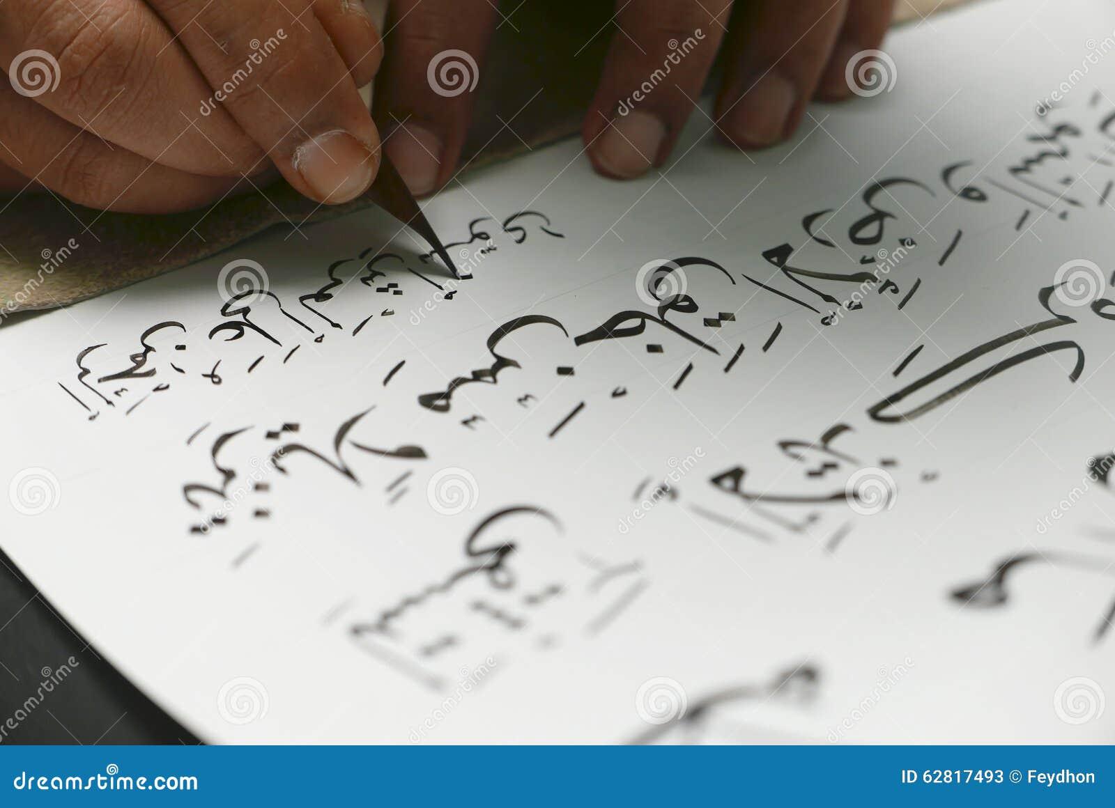 Quranic Calligraphy Transcription On Paper Islamic Sacred