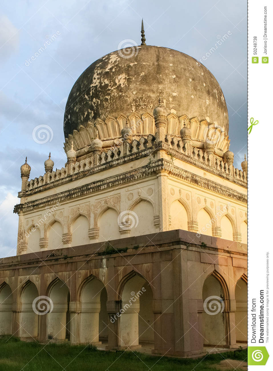 qutb shahi tombs in hyderabad india stock photo image 50248738. Black Bedroom Furniture Sets. Home Design Ideas
