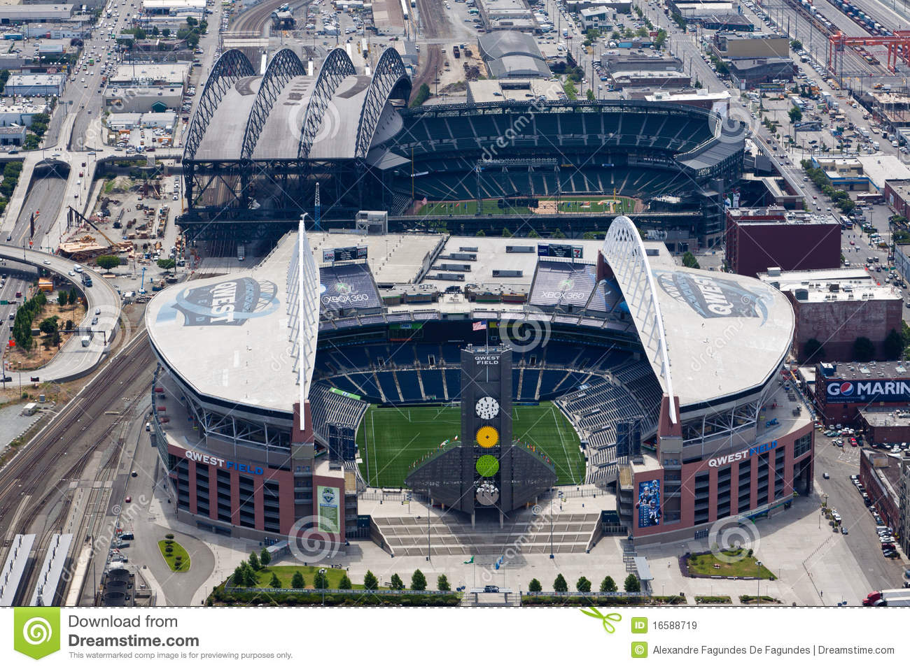 QWEST and Safeco Field in Seattle