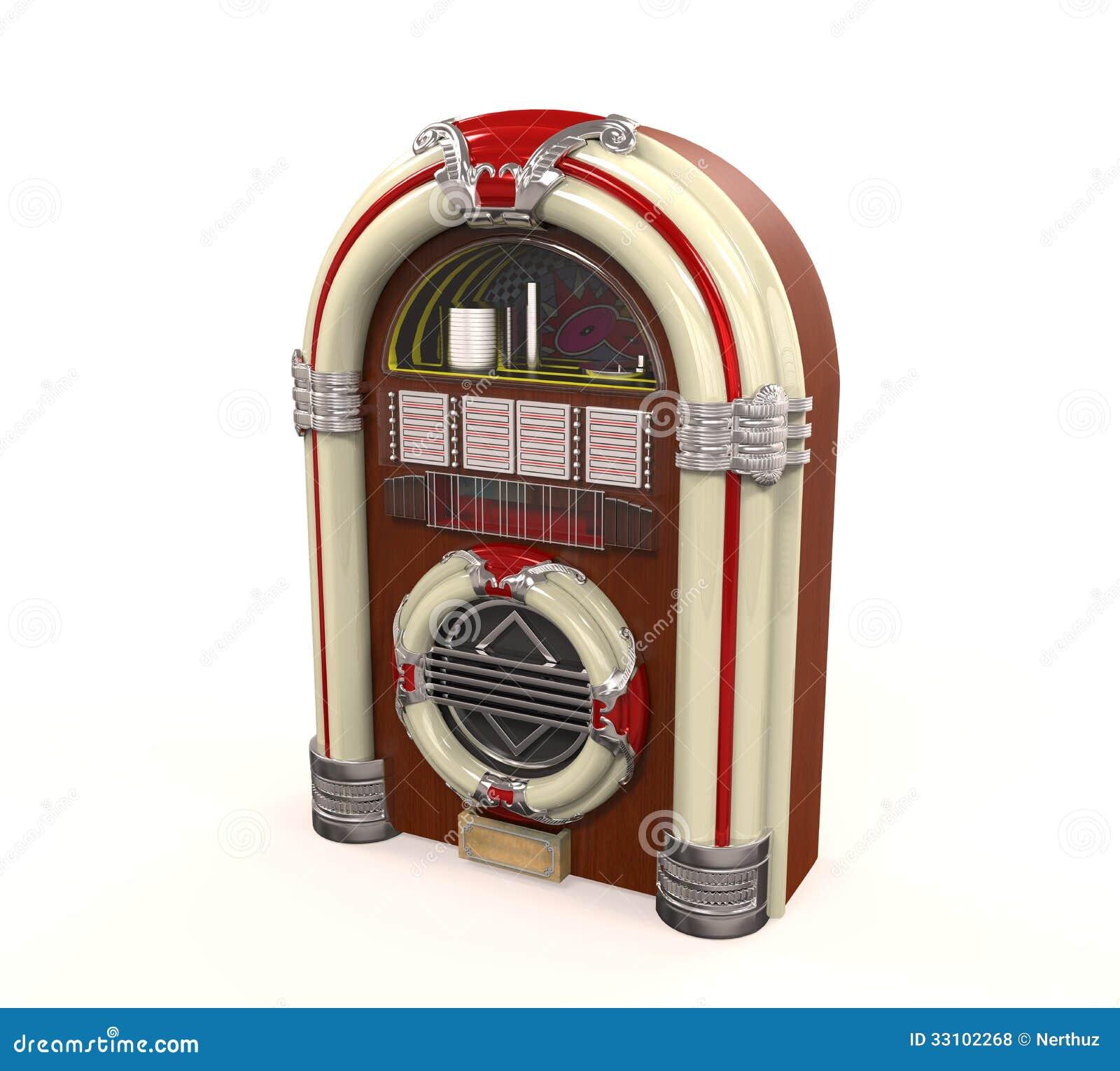 Rádio do jukebox isolado