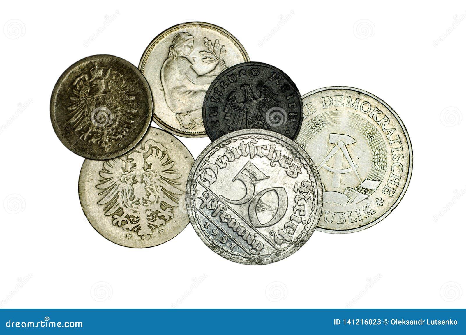 Różne niemiec monety