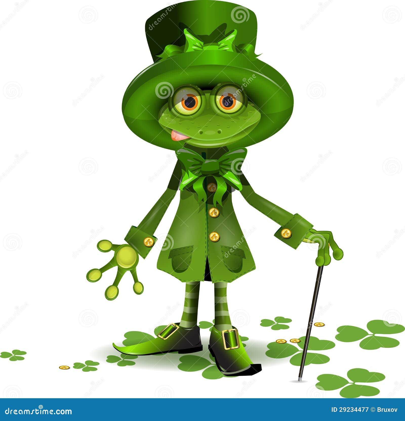 Download Rã Em Um Terno De Santa Patrick Ilustração do Vetor - Ilustração de interesse, verde: 29234477