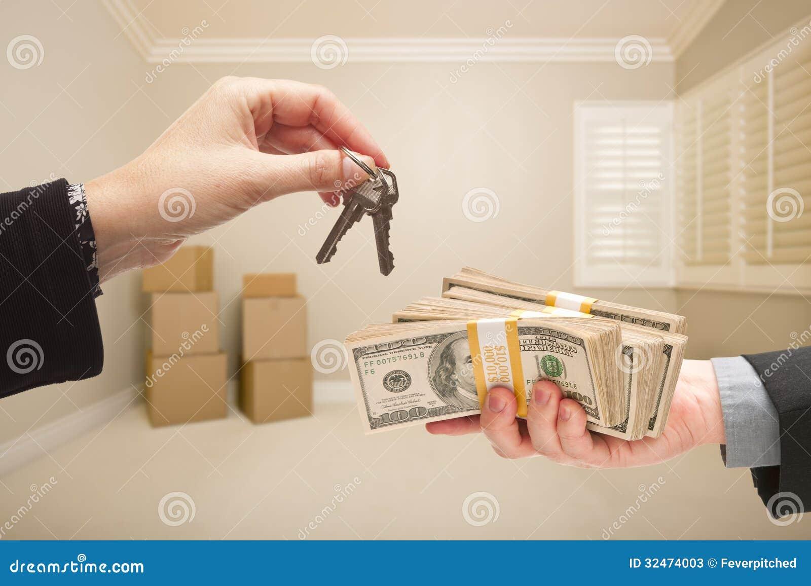 Räcka över kassa för hustangenter