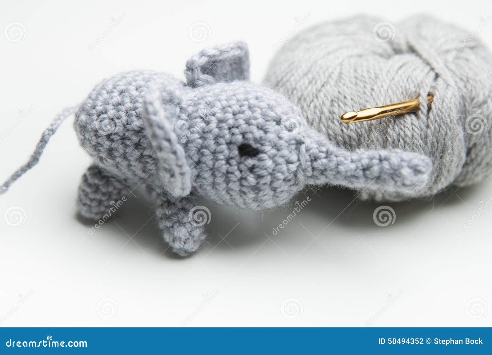 Räcka den virkade elefanten med ull, virkningvisare