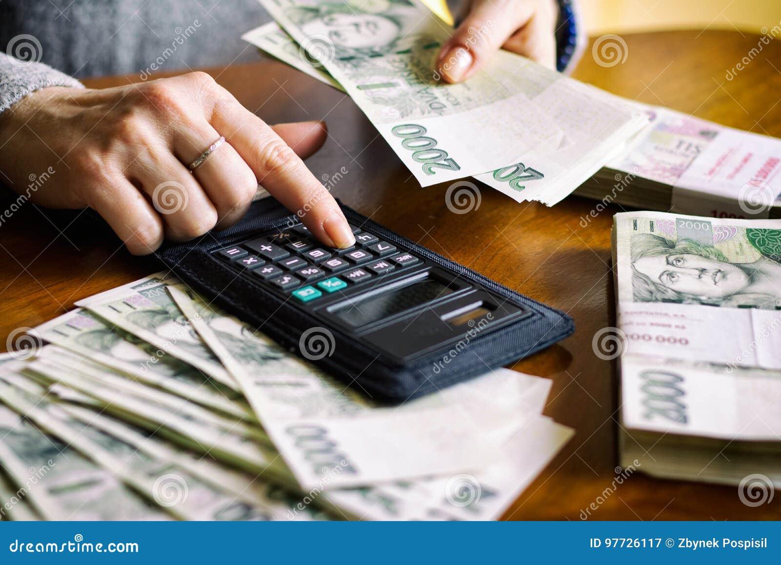 Räkna pengarkvinnan