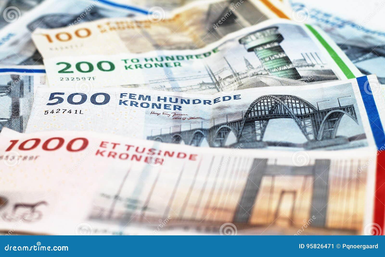 Räkningar för danska Kroner