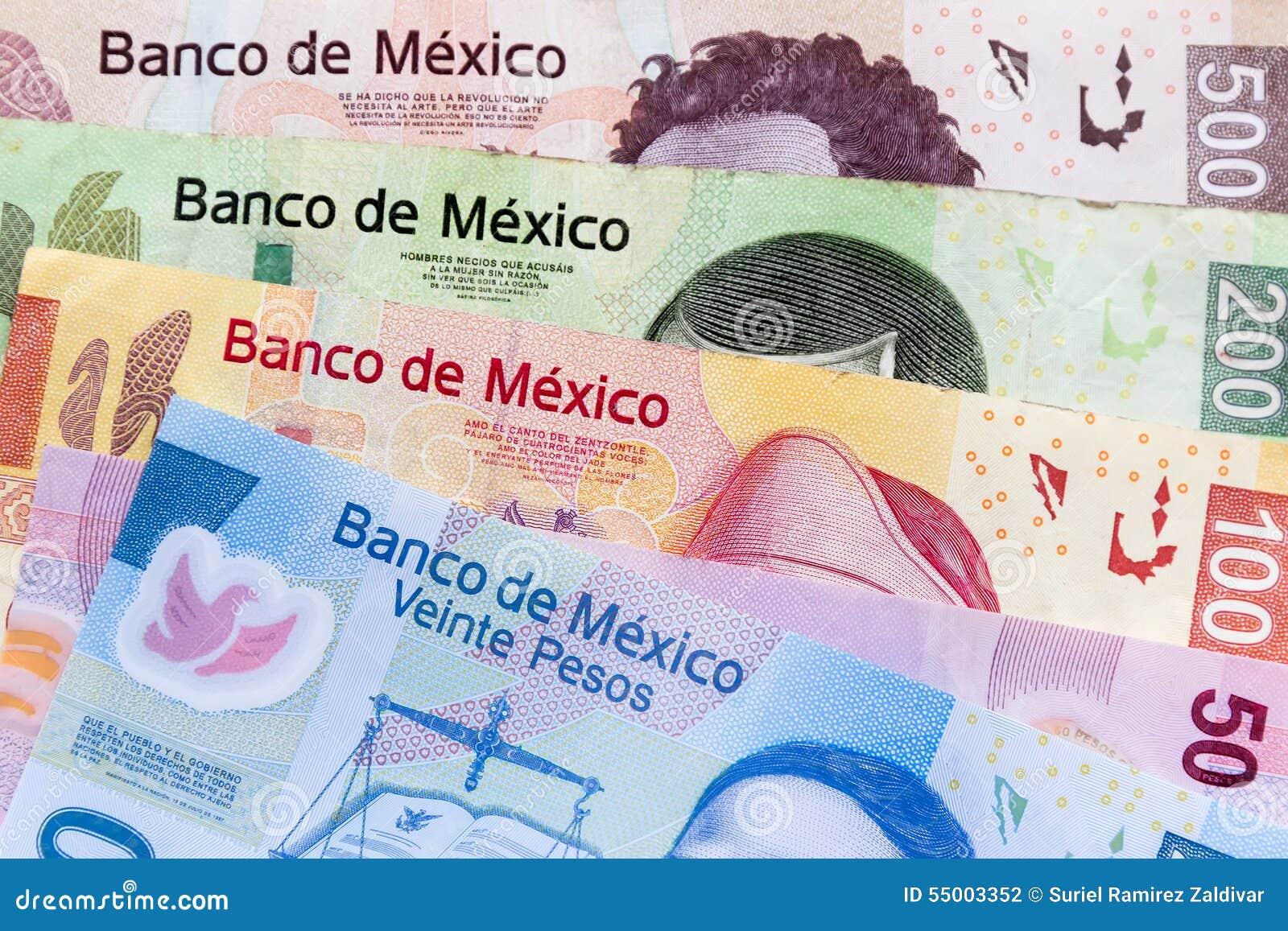Räkningar för mexicanska pesos