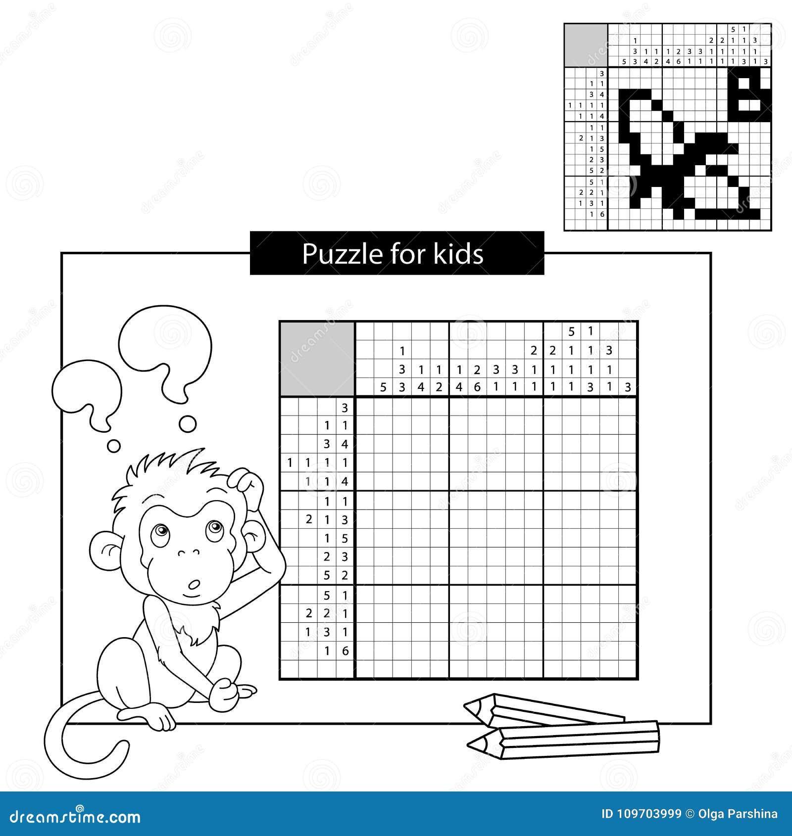 Rätselspiel Für Schulkinder Banane Japanisches Schwarzweiss ...