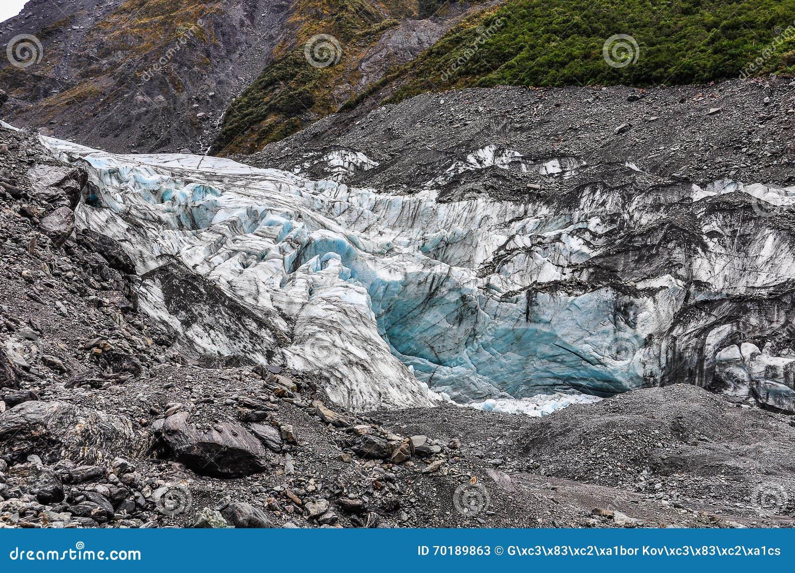 Rävglaciär i nyazeeländskt