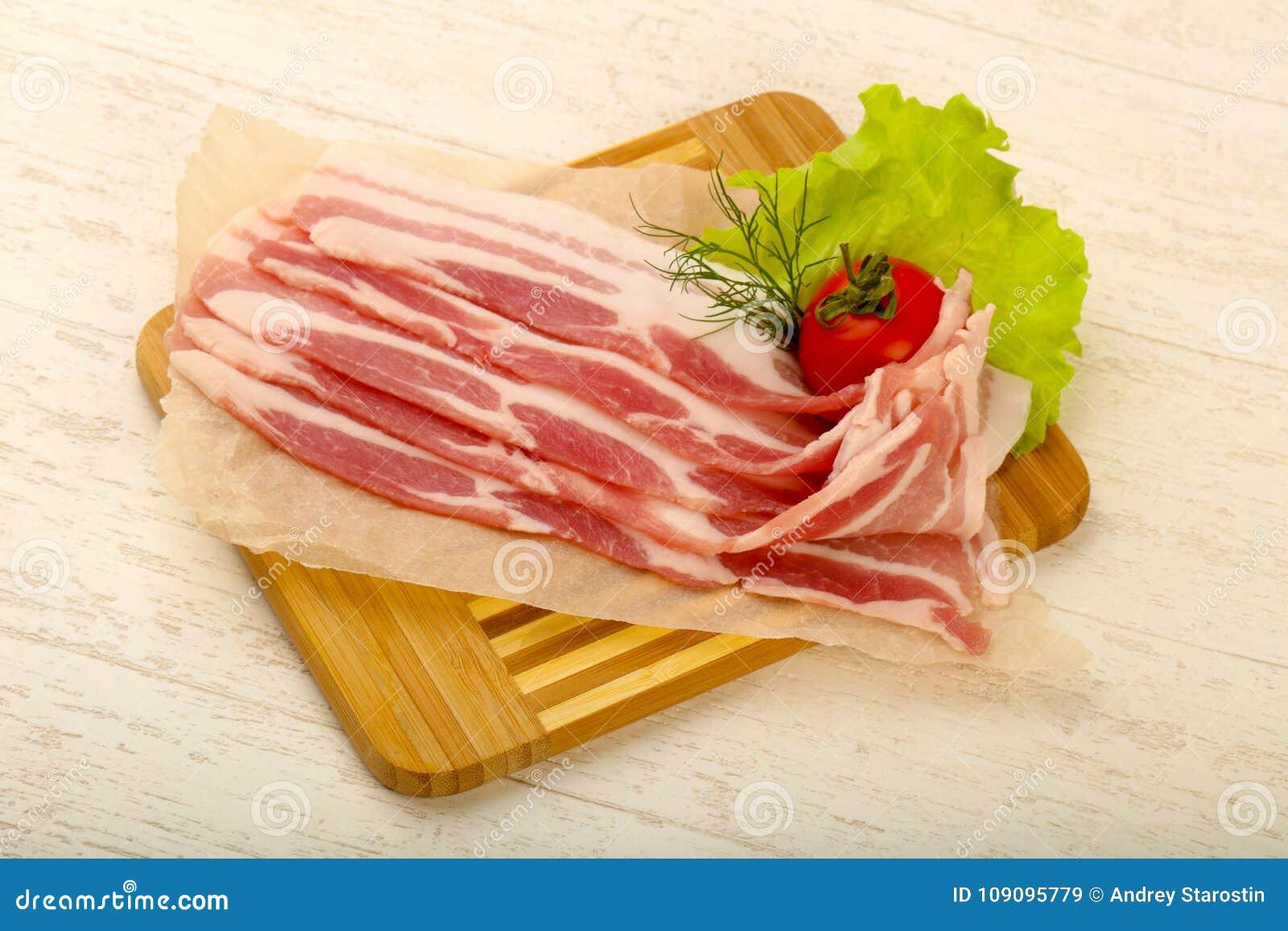 Rå bacon