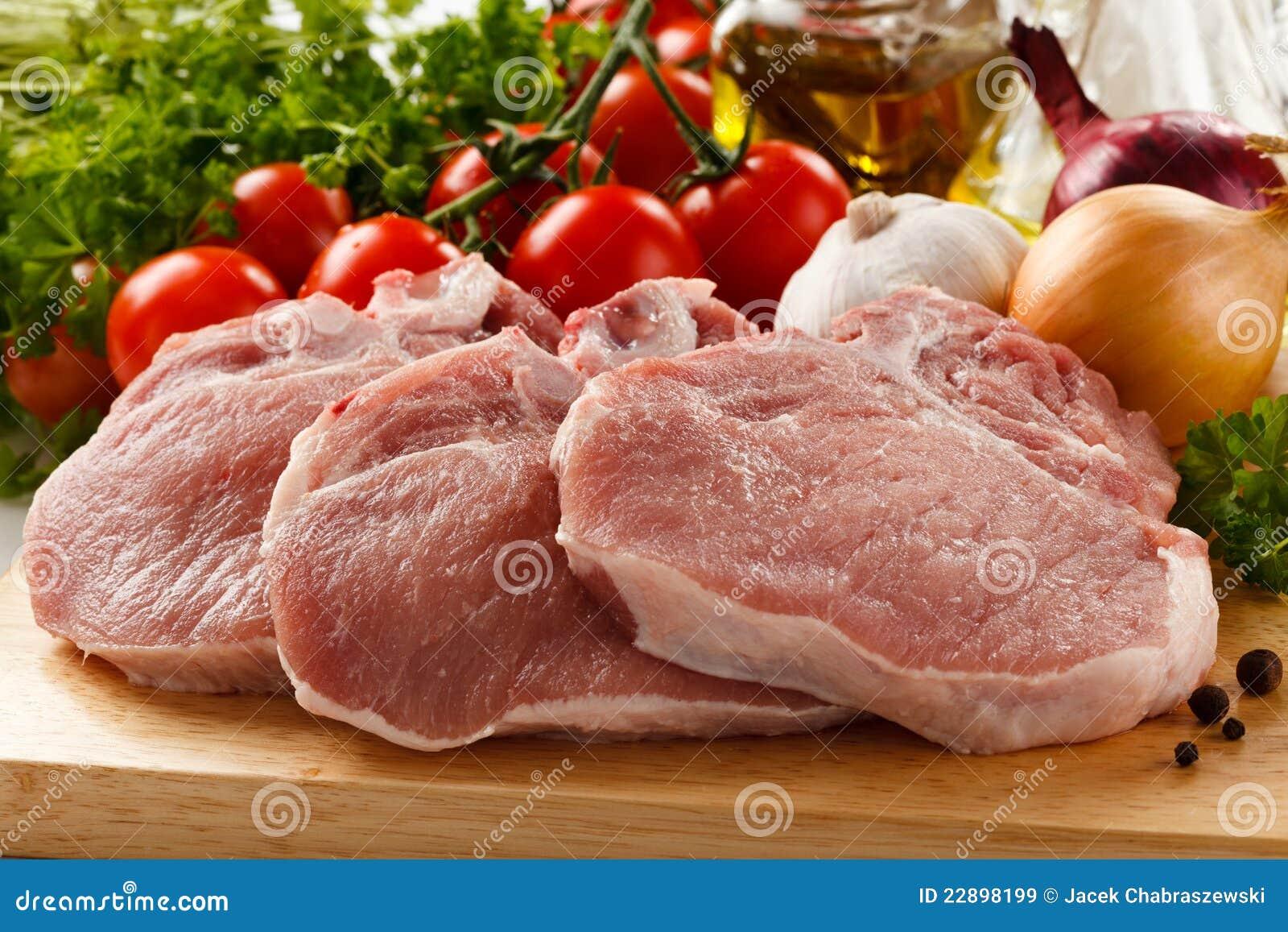 Rå ny pork