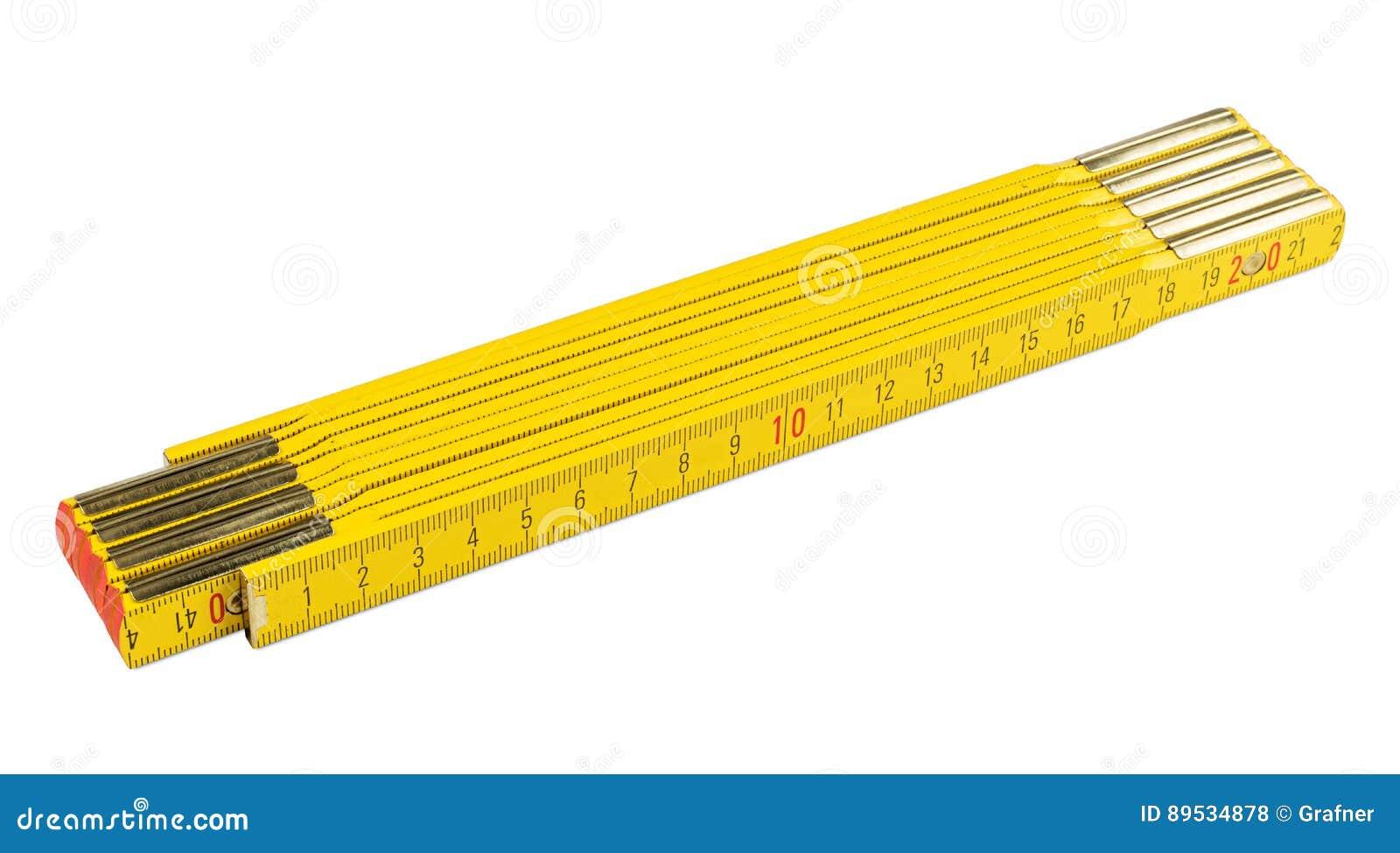 Règle de pliage jaune
