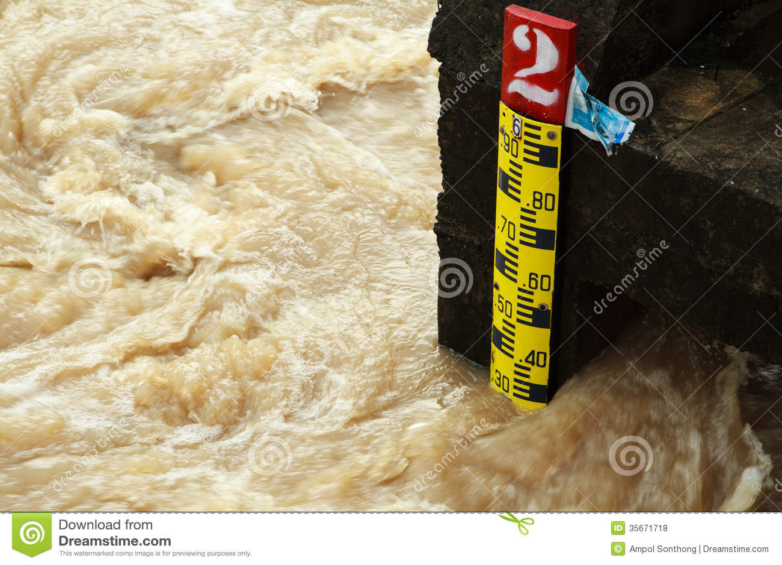 Règle indiquant la taille de l eau