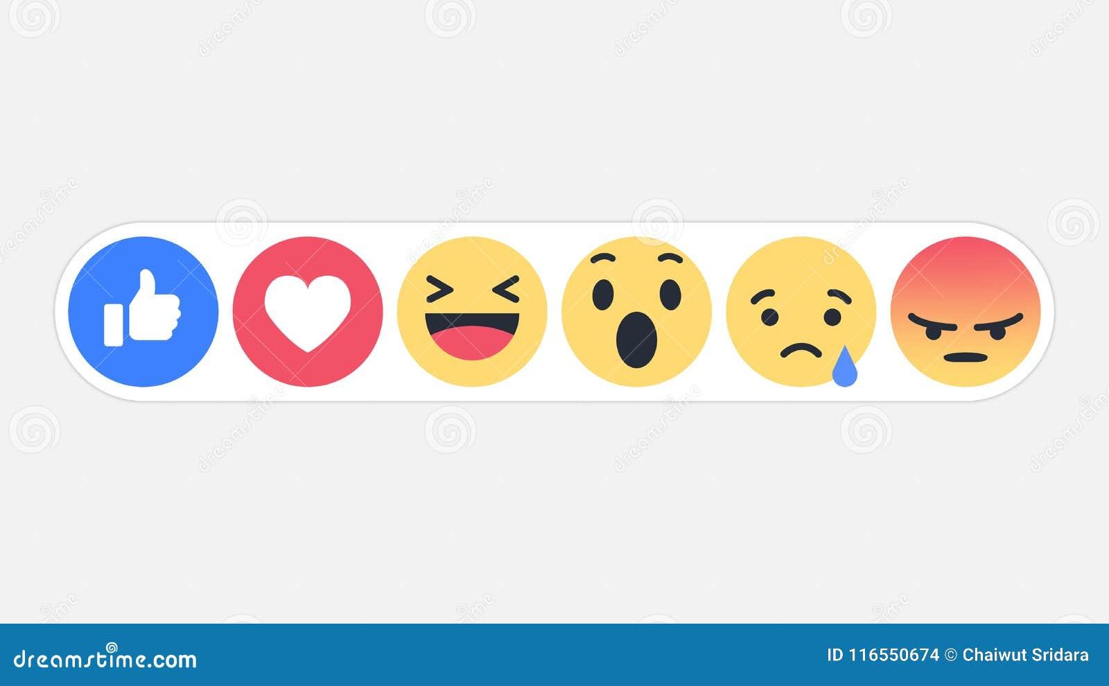 Réactions sociales icône, illustration de réseau d Emoji de vecteur