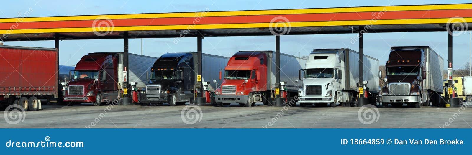 Réapprovisionnement en combustible diesel de camions
