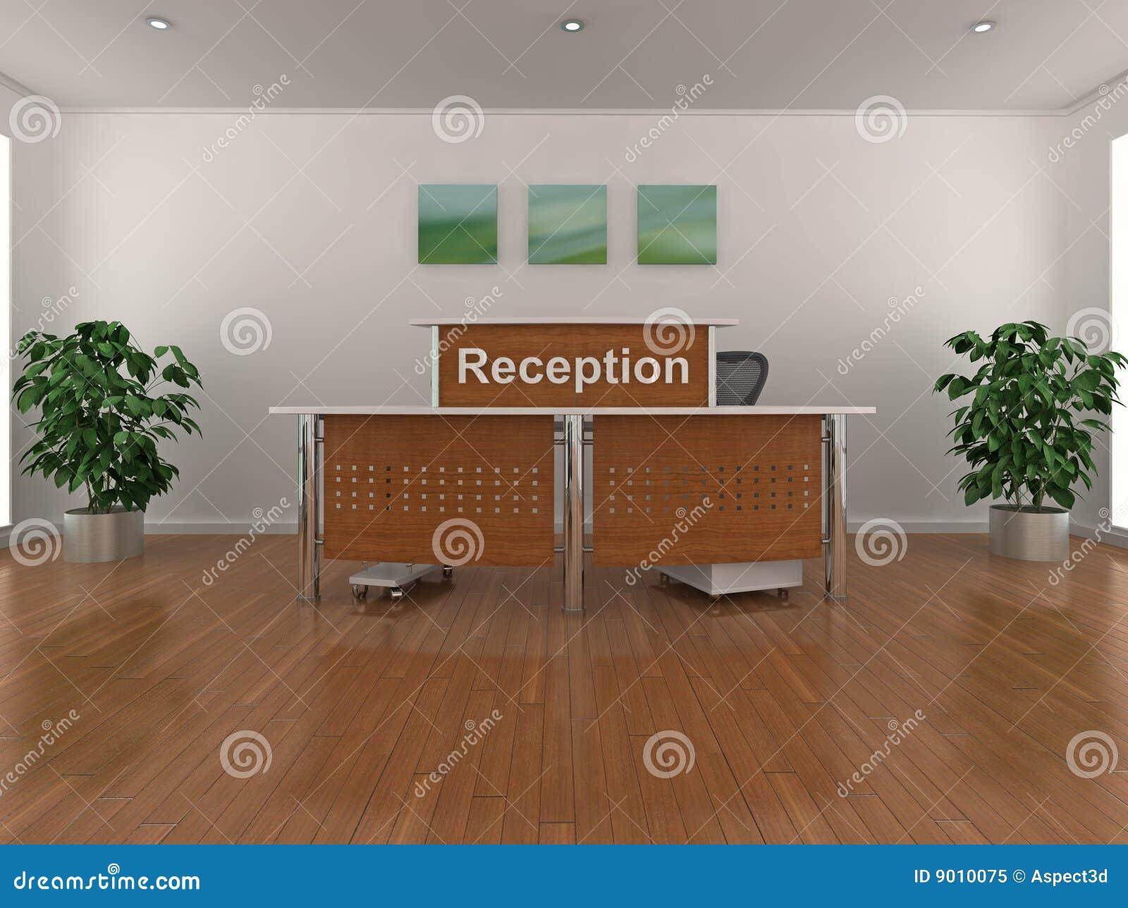 Réception de bureau