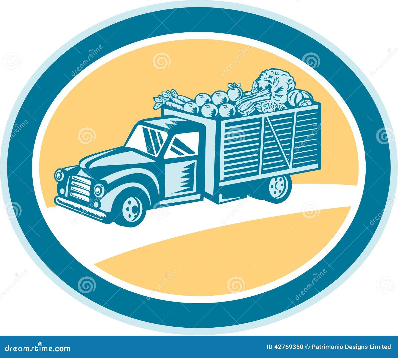r colte de la livraison de camion pick up de vintage r tro illustration de vecteur image 42769350. Black Bedroom Furniture Sets. Home Design Ideas