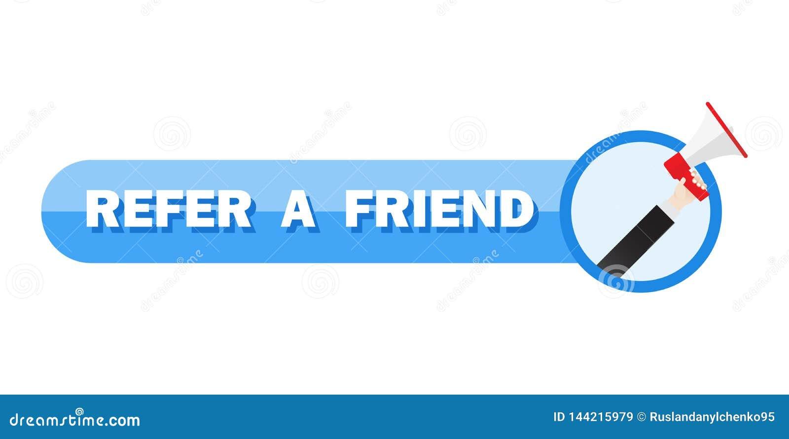 Référez-vous un concept d illustration d ami, cri de personnes sur le mégaphone avec pour se référer un mot d ami, pouvez employe