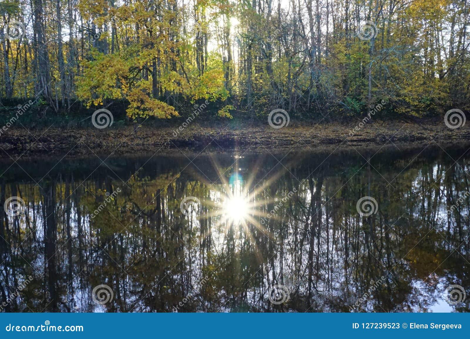 Réflexion du soleil dans l eau