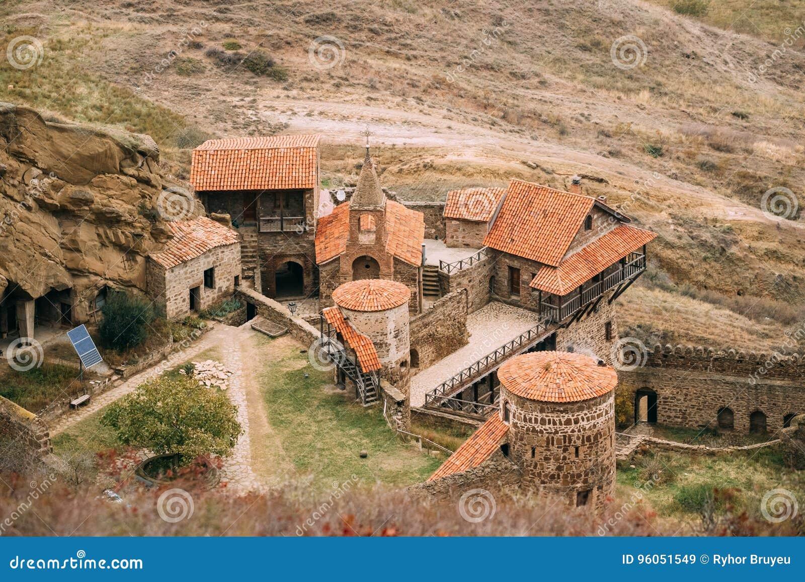 Région de Kakheti, la Géorgie David Gareja Monastery Complex orthodoxe géorgien Roche-taillé antique