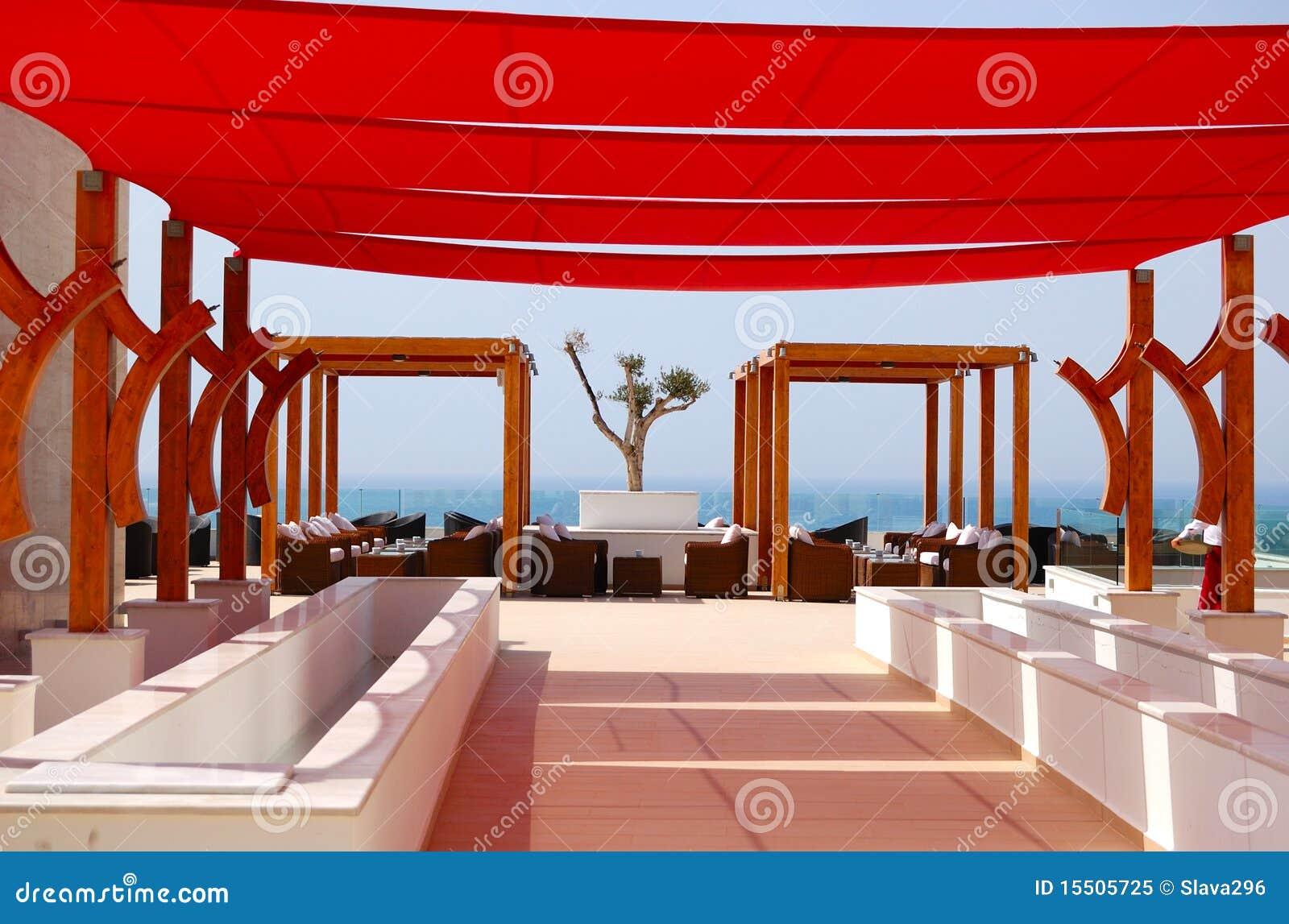 Région de relaxation d hôtel de luxe moderne