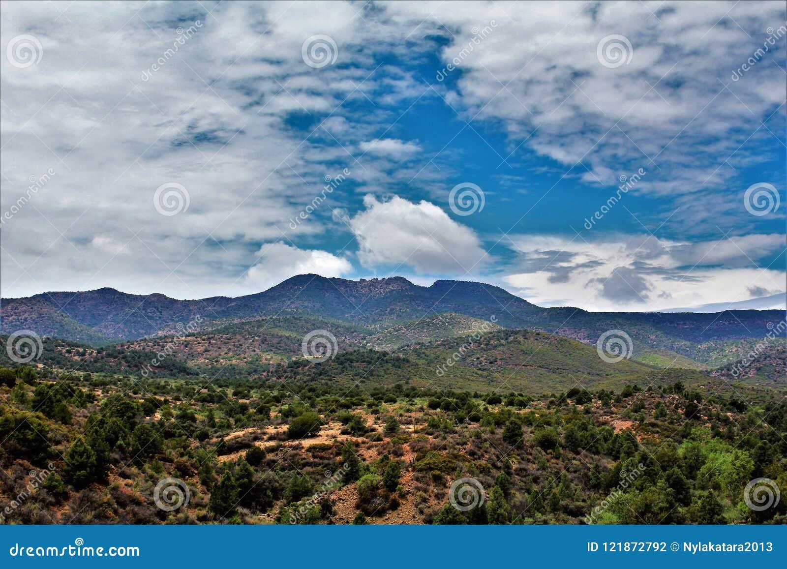 Région de région sauvage de canyon de la rivière Salt, réserve forestière de Tonto, Gila County, Arizona, Etats-Unis