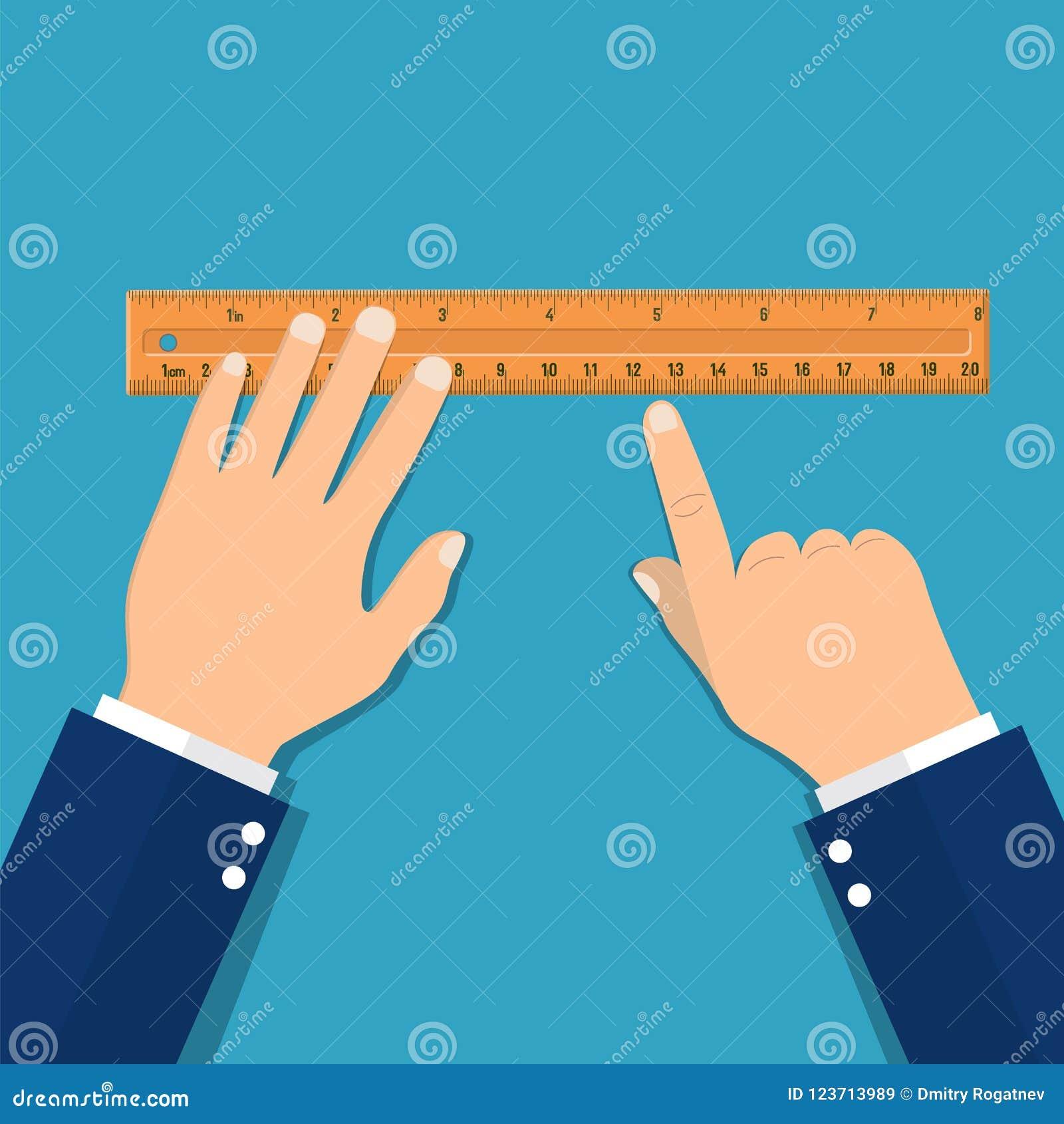 Régua de medição plástica à disposição