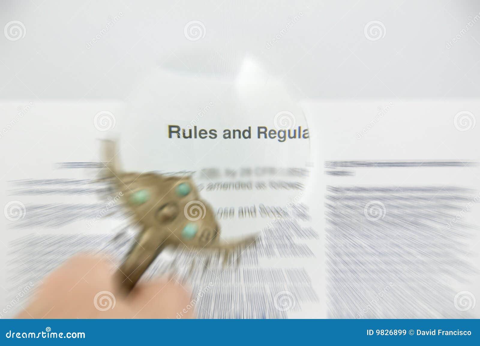 Réguas e original borrado regulamentos