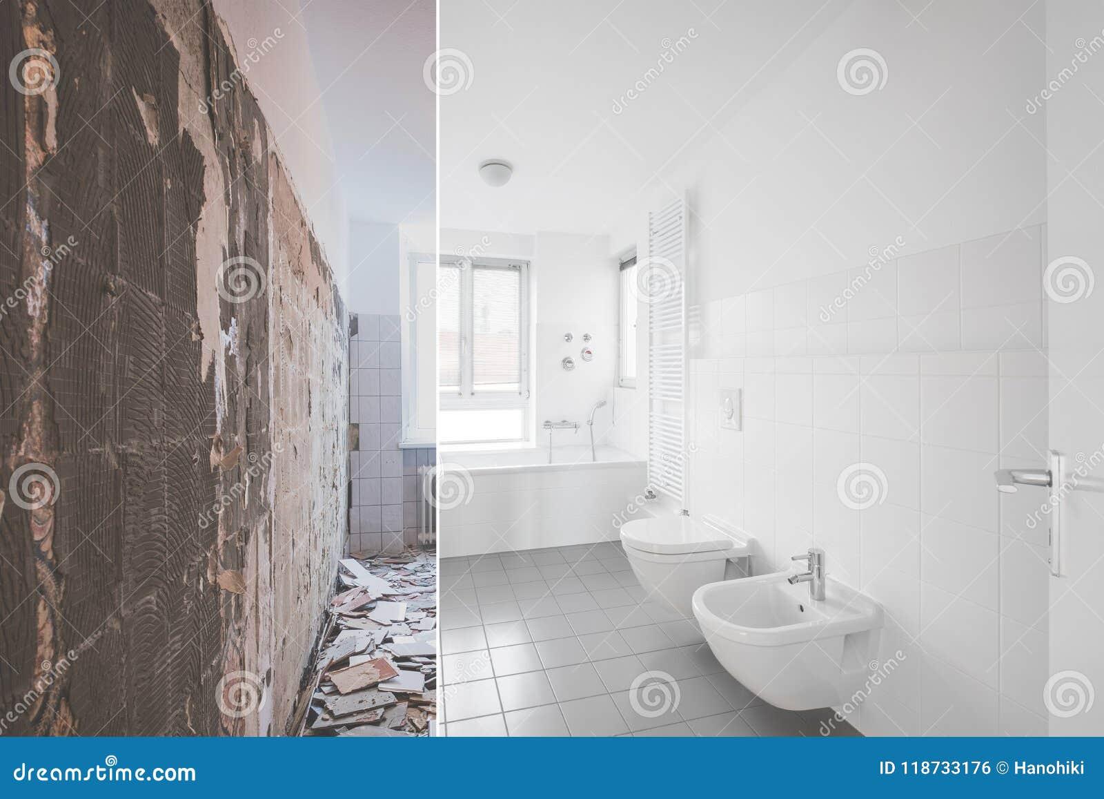 Rénovation Salle De Bain Avant Après rénovation carrelée de salle de bains - avant et après la