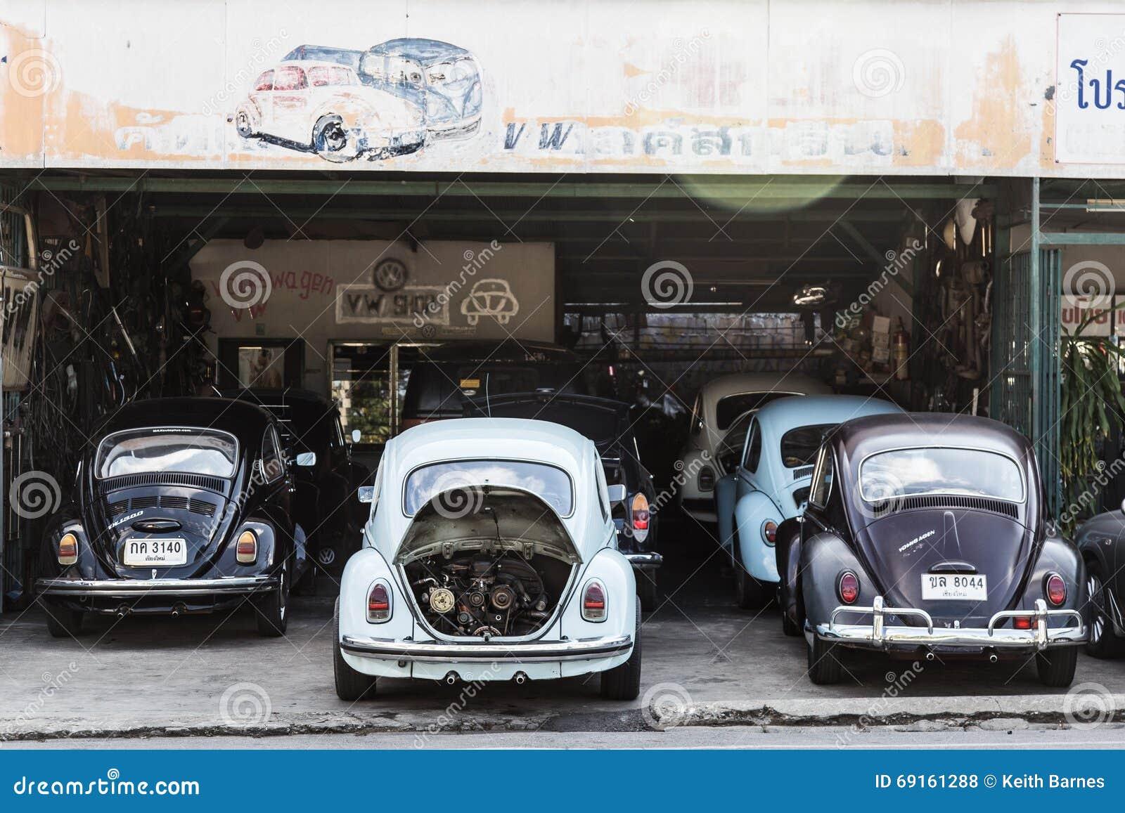 Reparation De Garage De Scarabees De Vw Photo Stock Editorial