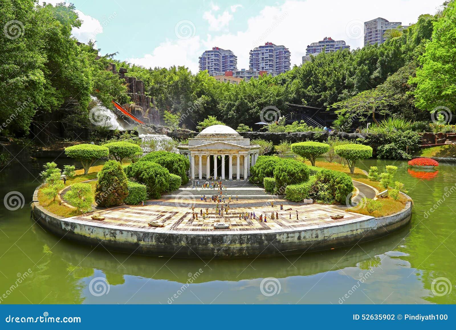 Réplica do memorial de jefferson na janela de shenzhen do mundo