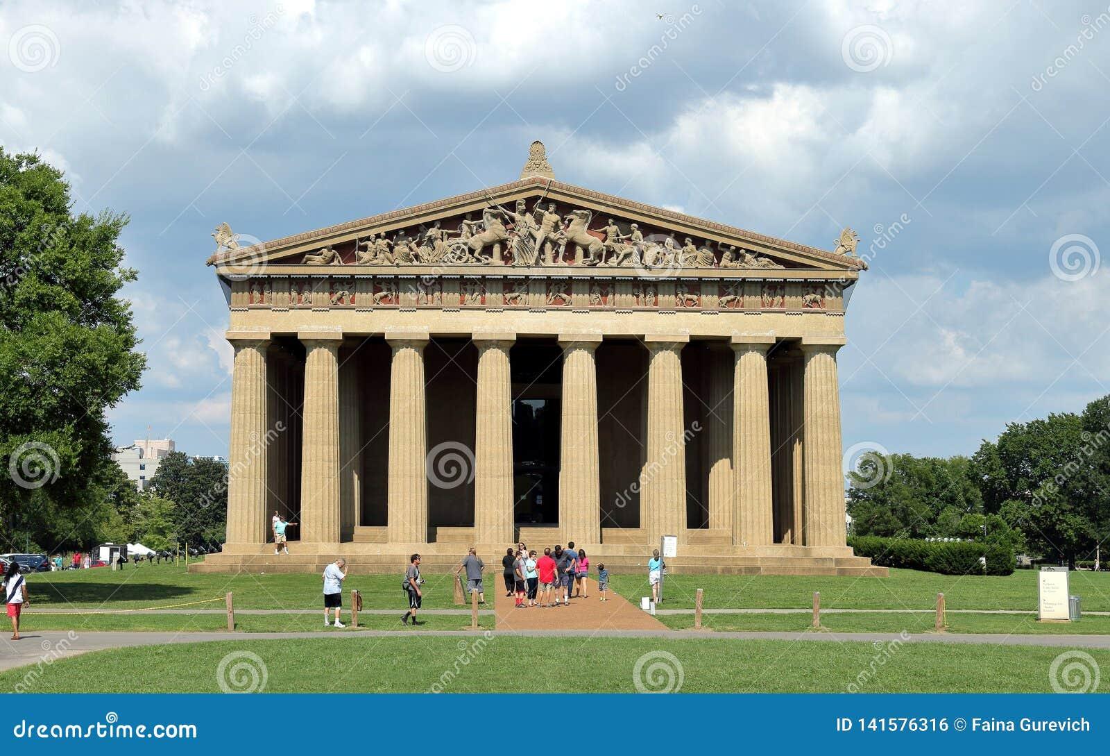 Réplica do Partenon no parque centenário em Nashville Tennessee EUA