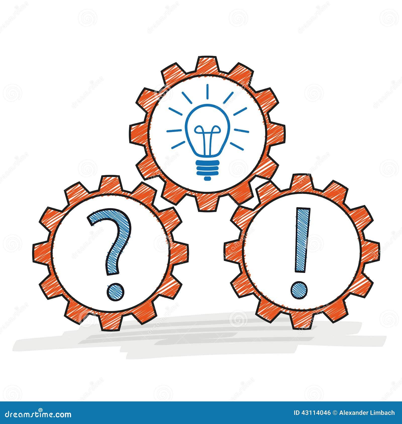 idée de question Réponse D'idée De Question De Trois Vitesses Illustration de  idée de question