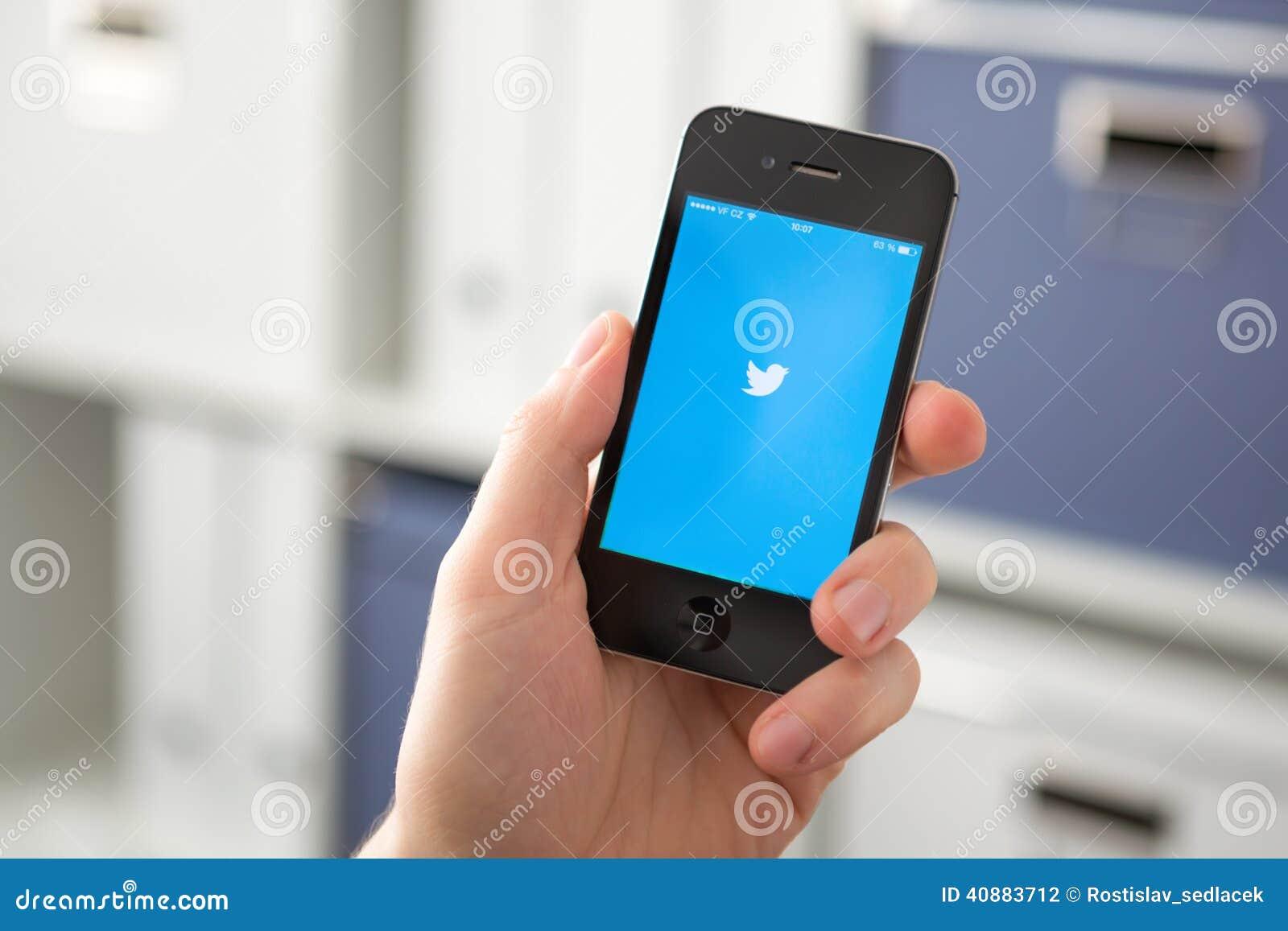 RÉPUBLIQUE TCHÈQUE DE HODONIN - 7 AVRIL : Le Twitter est un Ne en ligne de social
