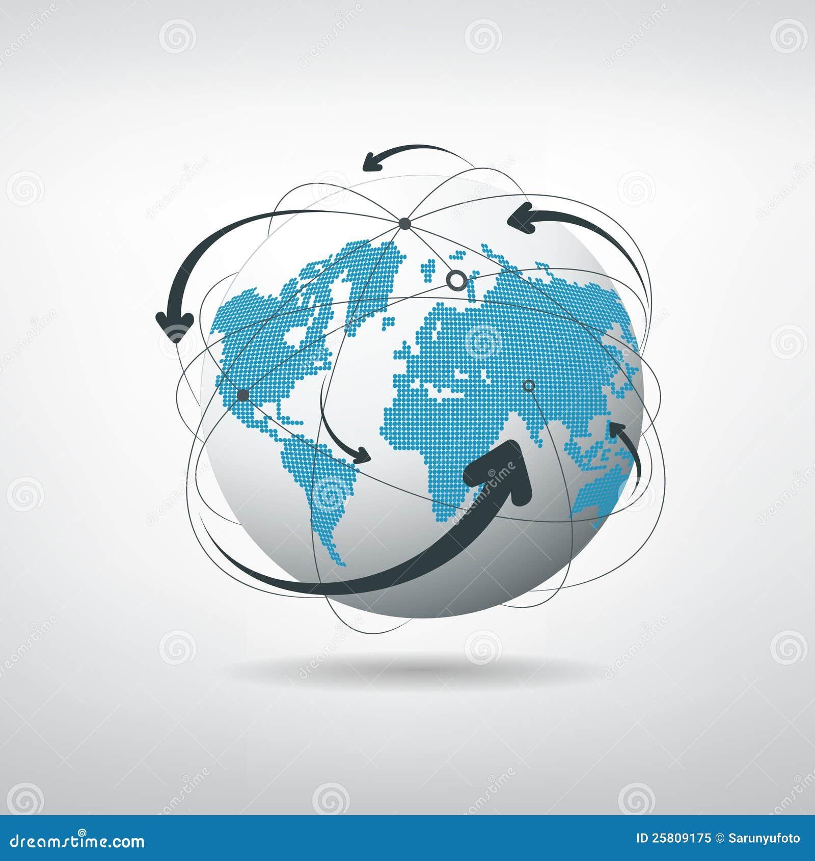 Réseau de connexions de globe