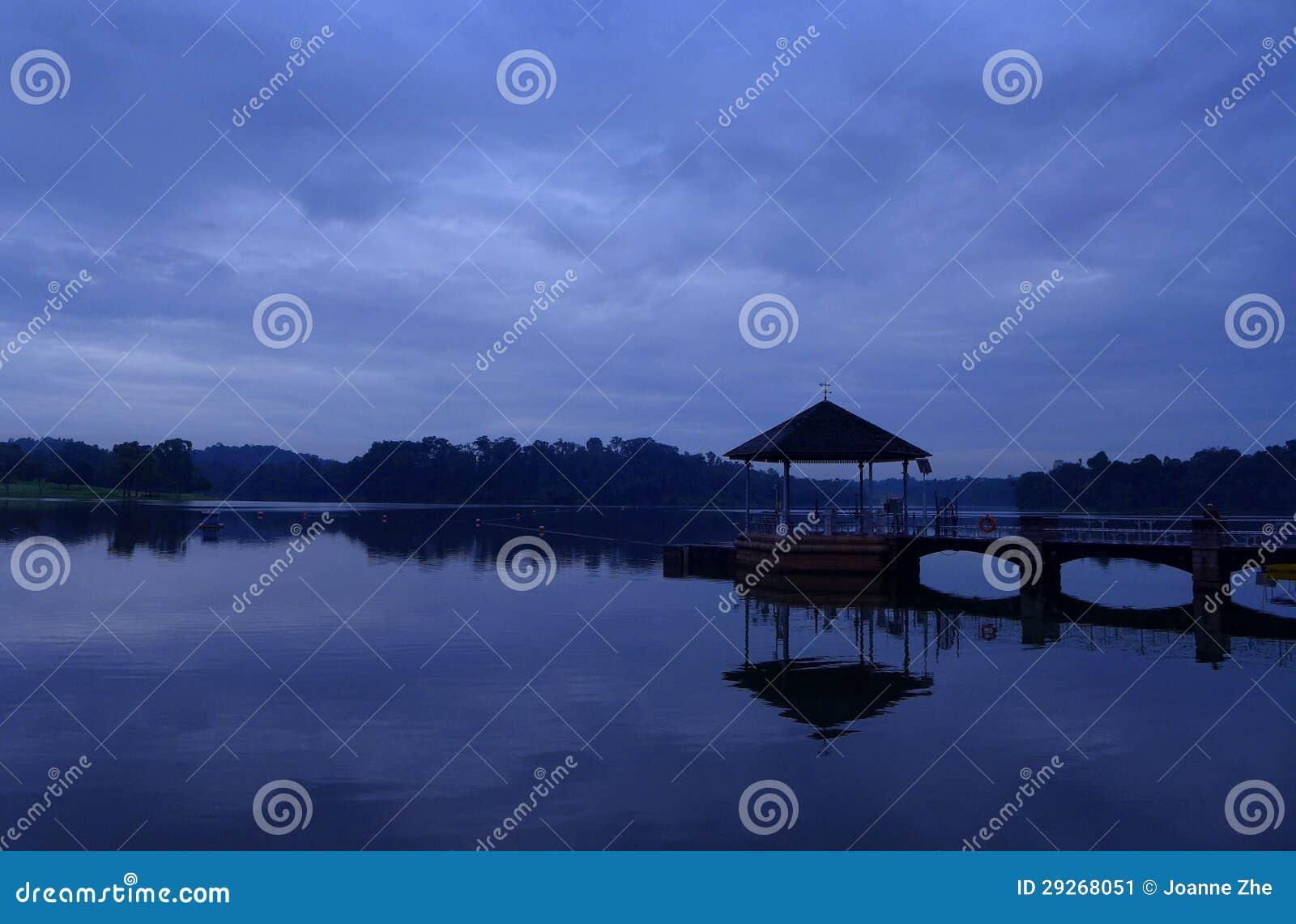 Réservoir de Pierce, Singapour - scène d aube