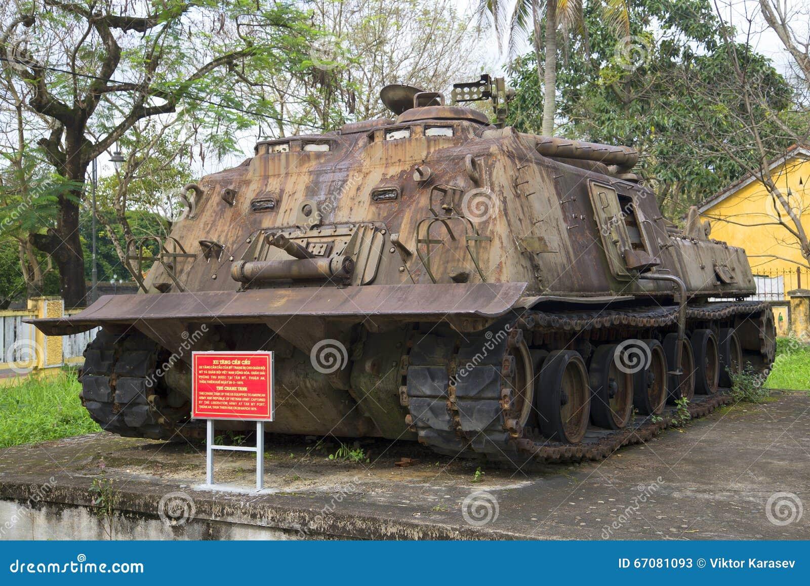 Réservoir lourd américain Le musée de la ville de Hue, Vietnam