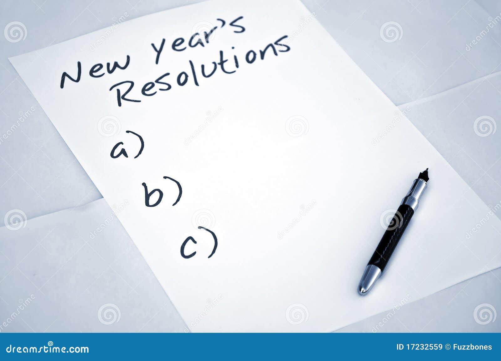 Résolutions vides d an neuf